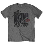 Bob Marley Unisex Tee: Catch A Fire World Tour