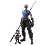 Final Fantasy VII Advent Children Play Arts Kai Action Figures Cid Highwind & Cait Sith 9 - 27 cm