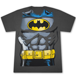 BATMAN Classic Retro Costume Grey Graphic Tee Shirt