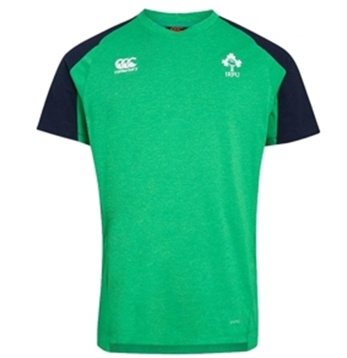 Ireland Vapodri Cotton Rugby T-shirt (Green-Blu)