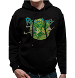 Rick And Morty - Black Portal - Unisex Hooded Sweatshirt Black