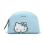 HELLO KITTY Zipped Ladies Makeup Bag, Female, Blue/Pink