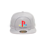 Sony PlayStation Snap Back Baseball Cap Silver Logo