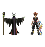 Kingdom Hearts 3 Select Action Figures 2-Pack Maleficent & Sora 18 cm