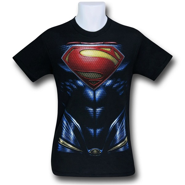 Superman Man of Steel Armor Costume T-Shirt