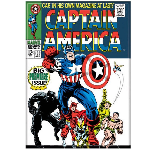 Captain America Issue 100 Full Color Magnet