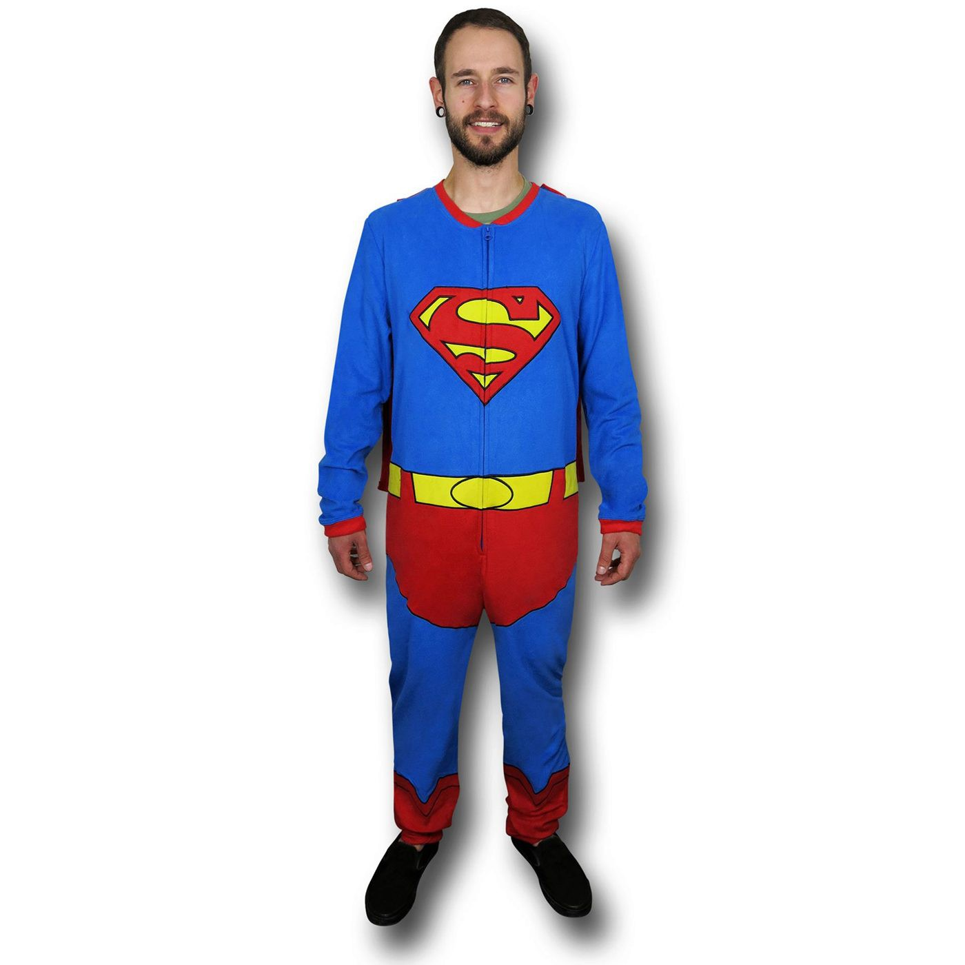 Superman Belted  and  Caped Union Suit
