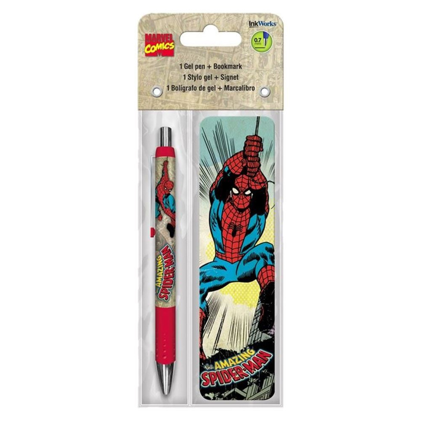 Spider-Man Gel Pen  and  Bookmark Pack
