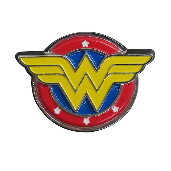 Wonder Woman Symbol Colored Lapel Pin