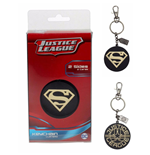 Jla Superman Golden Logo Metal Keychain