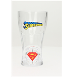 Superman Spinning Logo Soda Glass Glasses