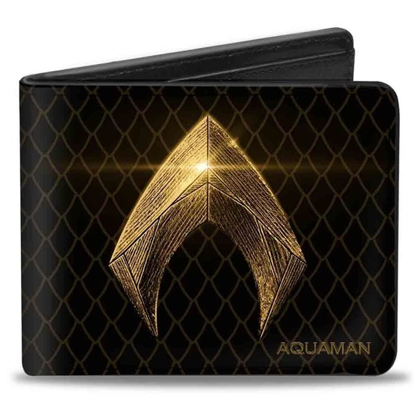 Aquaman Symbol  and  Scales Bi-fold Wallet