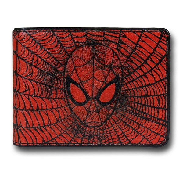 Spider-Man Face Web Bi-Fold Wallet