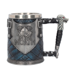 Game Of Thrones Tankard ( Stainless Steel & Resin ) King In The North Tankard