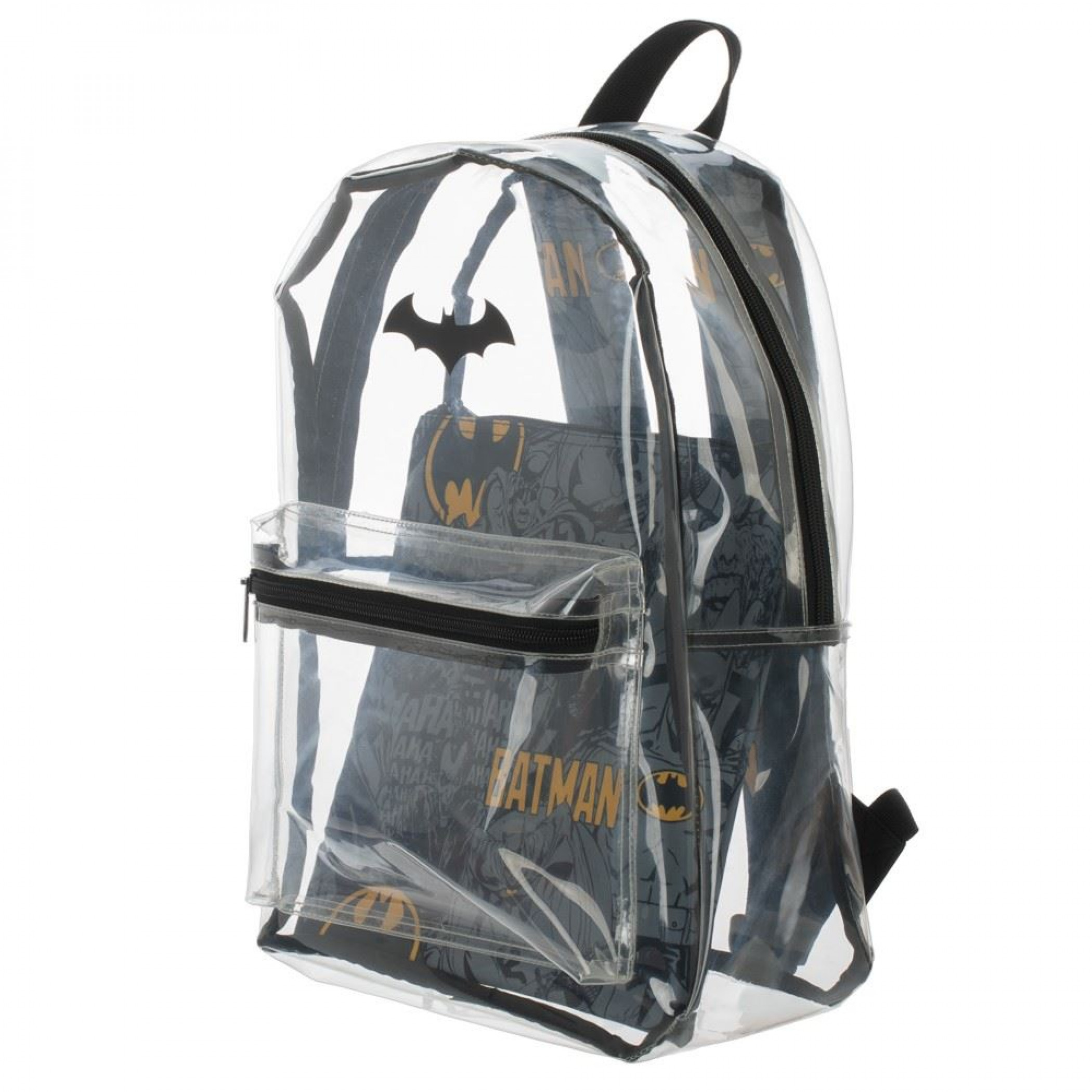 DC Comics Batman Clear with Removable Pouch Backpack