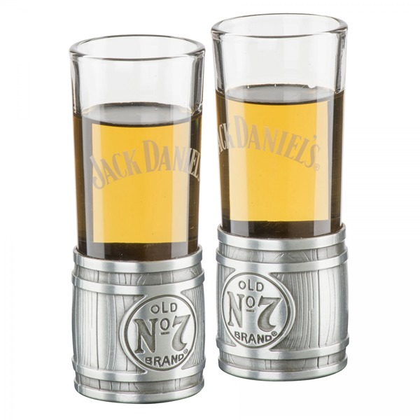 Jack Daniels Metal Barrel Set of 2 Shooters