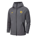 2019-2020 Inter Milan Nike Techfleece Authentic Hoody (Grey)