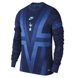 2019-2020 Tottenham Nike LS Pre-Match Training Shirt (Binary Blue)