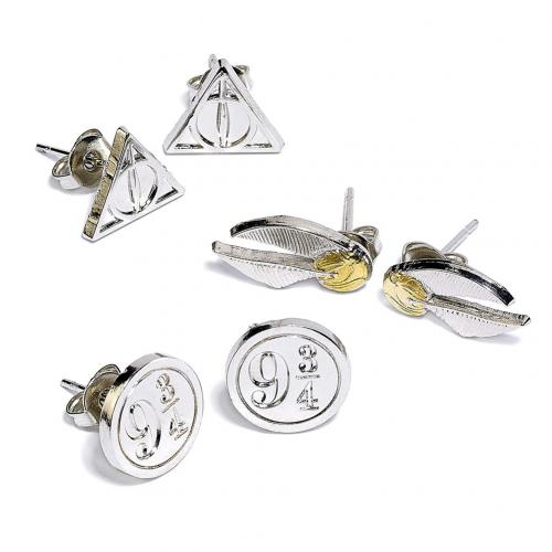 Harry Potter Silver Plated Earring Set