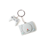 Sony PlayStation Rubber Keychain Console & Controller 3D