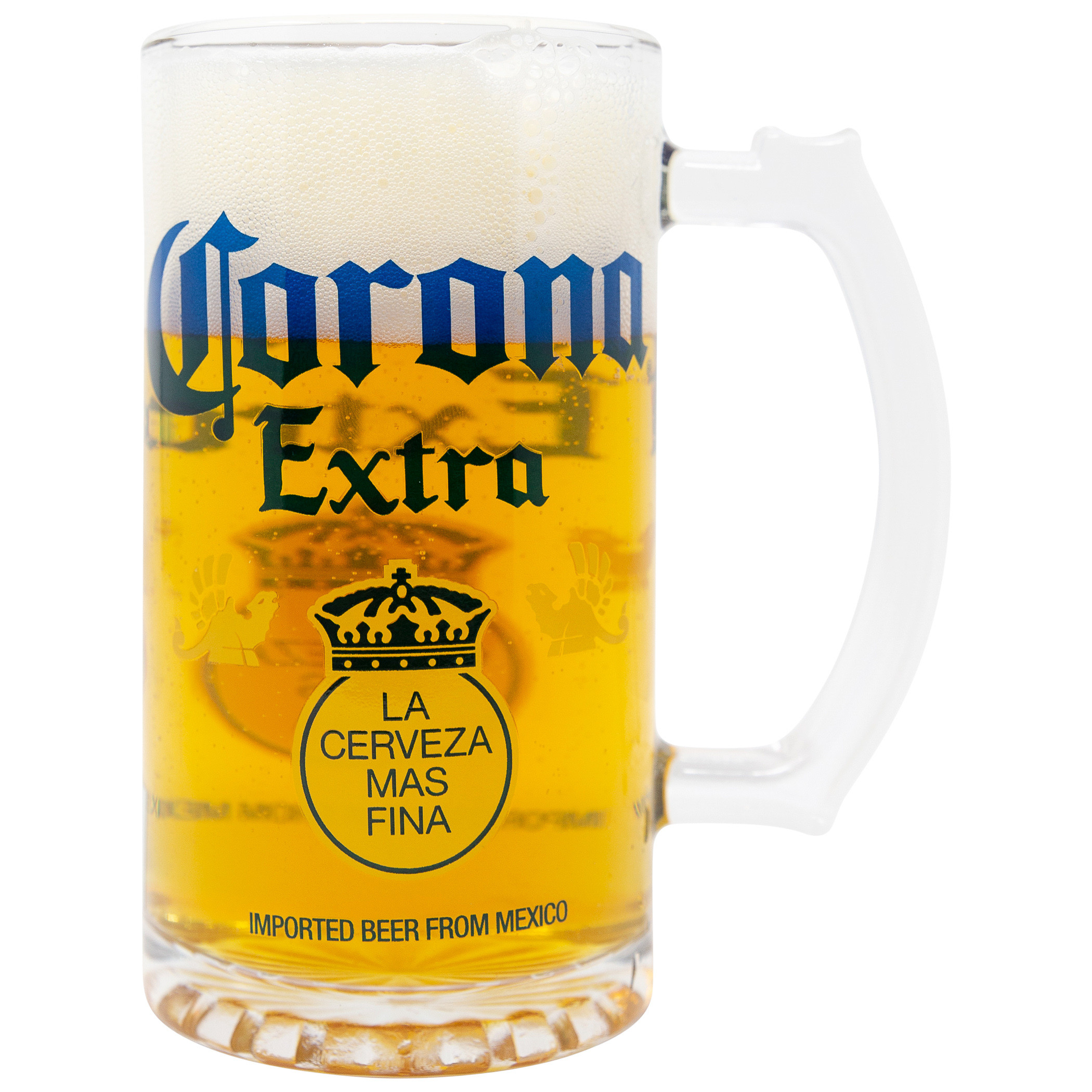 Corona Extra Beer 16oz Glass Stein