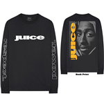Tupac Unisex Long Sleeve Tee: Respect (Back & Arm Print)