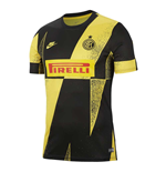 2019-2020 Inter Milan Nike Pre-Match Training Shirt (Tour Yellow)