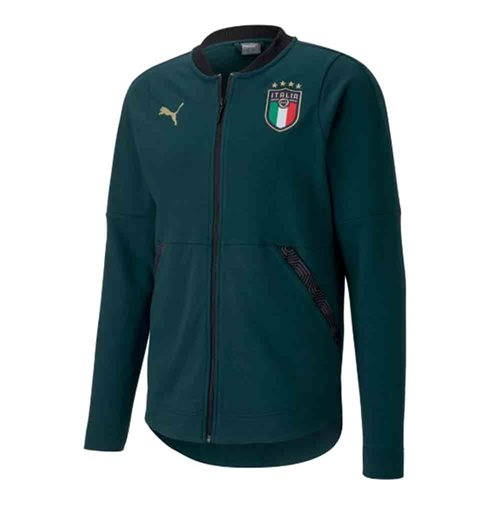 2019-2020 Italy Puma Casuals Hooded Jacket (Pine)