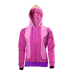 ADVENTURE TIME Princess Bubblegum Inspired Cosplay Full Length Zipper Hoodie, Female, Large, Multi-colour
