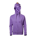 ADVENTURE TIME Lumpy Space Princess Full Length Zipper Hoodie, Female, Large, Purple