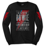 David Bowie Unisex Long Sleeve Tee: Hammersmith Odeon (Arm Print)