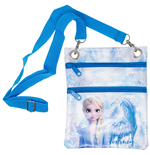 Frozen 2 Blue and White Passport Bag