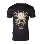NINTENDO Legend of Zelda Link's Awakening Tribal Link T-Shirt, Male, Medium, Black