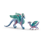 SCHLEICH Bayala Blossom Dragon Mother and Baby Toy Figures