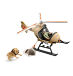SCHLEICH Wild Life Animal Rescue Helicopter with Toy Figures & Accessories