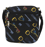 Disney by Loungefly Passport Bag Kingdom Hearts Keys AOP