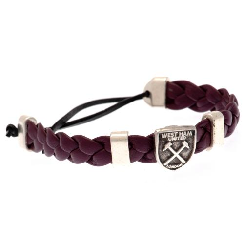 West Ham United FC PU Slider Bracelet