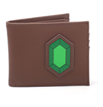 NINTENDO The Legend of Zelda Rupee Bi-fold Wallet, Male, Brown