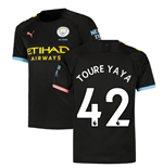 2019-2020 Manchester City Puma Away Football Shirt (TOURE YAYA 42)