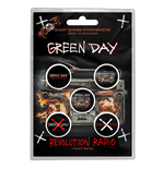 Green Day Pin Revolution Radio (button Badge SET)