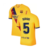 2019-2020 Barcelona Away Nike Football Shirt (SERGIO 5)