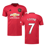 2019-2020 Man Utd Adidas Home Football Shirt (Kids) (Toone 7)
