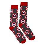 Captain America Symbols All-Over Crew Socks