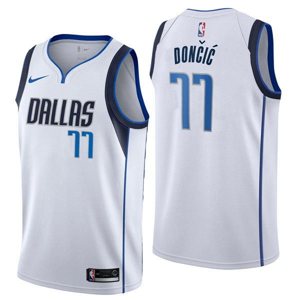 Men's Dallas Mavericks Luka Doncic Nike White Association Edition Swingman Jersey
