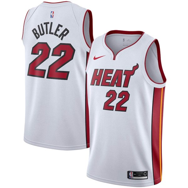 Men's Miami Heat Jimmy Butler Nike White Association Edition Swingman Jersey