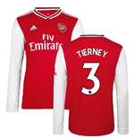 2019-2020 Arsenal Adidas Home Long Sleeve Shirt (Tierney 3)