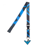 Nightwing Symbol Repeating Pattern Symbol Lanyard with Charm and Sticker