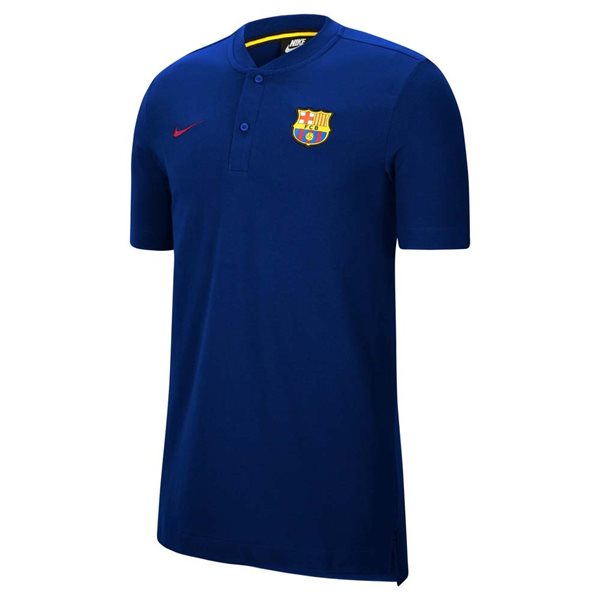 2020-2021 Barcelona Authentic Polo Shirt (Deep Royal)