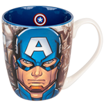Captain America Cartoon Face Mug