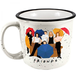 Friends Characters With Umbrellas 14oz Ceramic Camper Mug